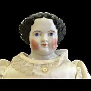Large Antique Civil War Era China Doll