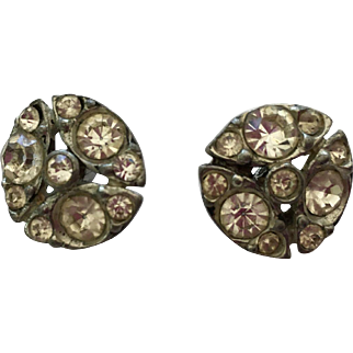 Lovely Vintage Rhinestone  Half  Ball Shank Buttons