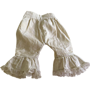 Pretty Antique pantaloons for Bisque Dolls