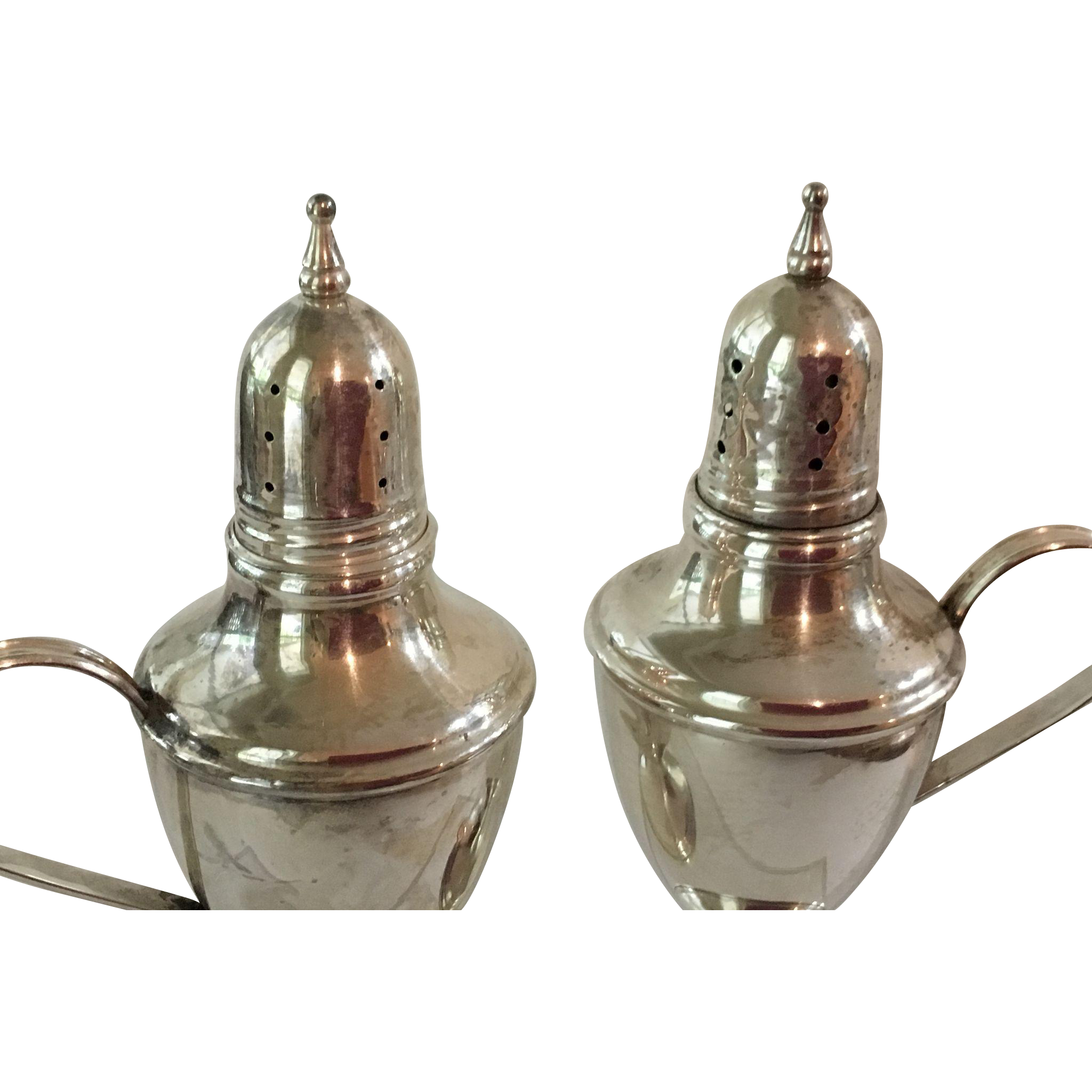 Beautiful Early Sterling Silver Salt & Pepper  Roger Smith ca. 1900