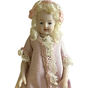 Beautiful Bisque Artist Doll 3 1/2""
