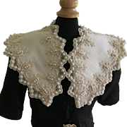 Beautiful Doll Lace and Pearl Collar