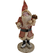 Antique Clay Face  Santa Claus
