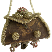 Fabulous Beaded Doll Purse for Antique doll