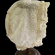 Beautiful Antique Bonnet for Antique Doll - Red Tag Sale Item