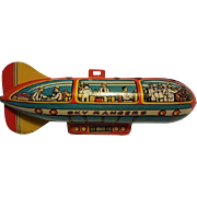 Antique Tin Sky Ranger Tin  Zeppelin Blimp Toy Ca. 1933
