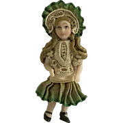 "Fabulous 2""  Bisque Artist made French  Doll"