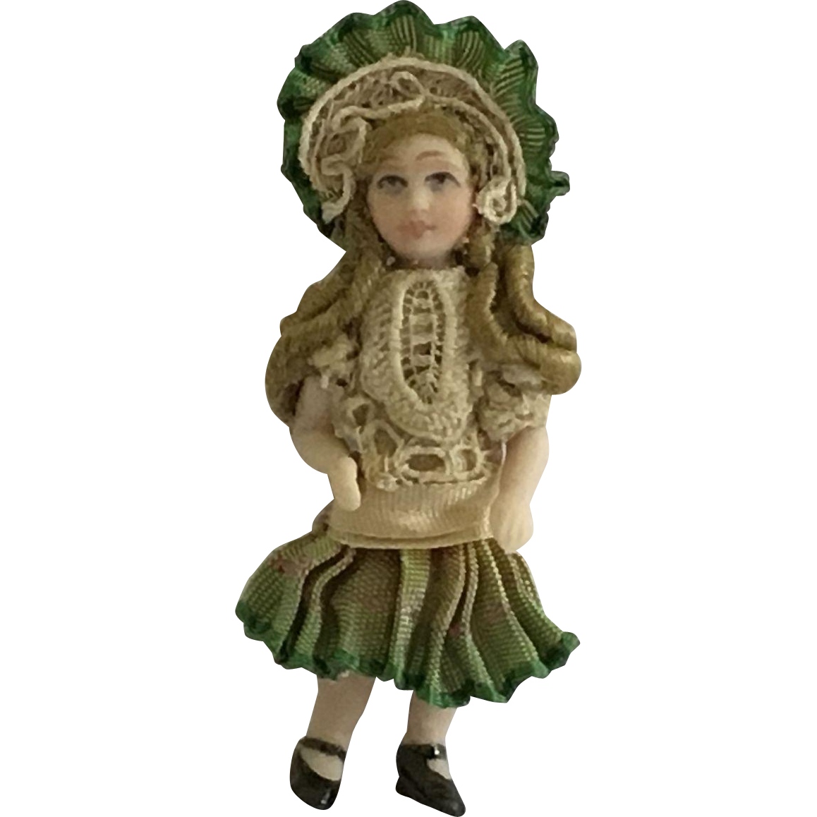 """Fabulous 2""""  Bisque Artist made French  Doll"""