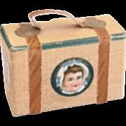 Wonderful Antique  German  Candy Container  Miniature Suitcase
