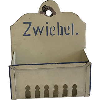 Antique Dollhouse or Store German Onion Holder ca.1900
