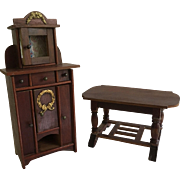 Beautiful German Dollhouse Furniture Ca. 1900-1920
