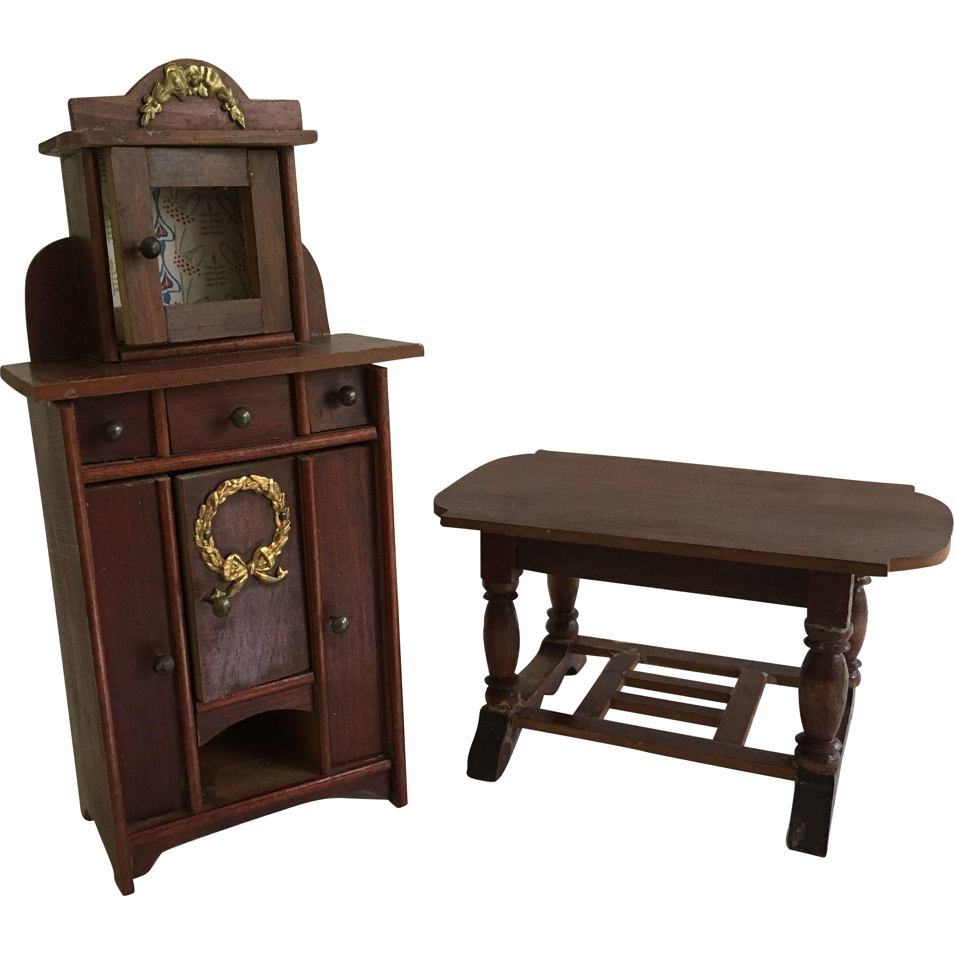 Beautiful German Dollhouse Furniture Ca. 1900-1920