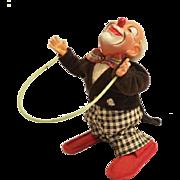 Vintage Wind Up Clown German ca. 1950's