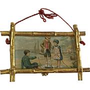 Dollhouse Ormolu Bamboo Frame 19th Century