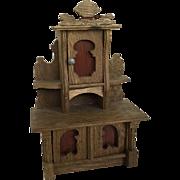 Antique Dollhouse German Sideboard