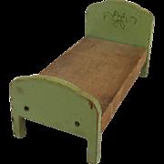 Antique Schoenhut Dollhouse Bed ca. 1933