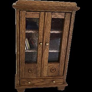 Antique Dollhouse German Bookcase ca. 1915-1920