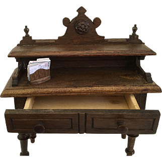 Rare German Harrass dollhouse Desk