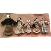 Antique Industrial Chinese Mission Dolls Ca. 1920-1940's
