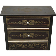 Antique Biedermeir  Boulle Chest of Drawers.