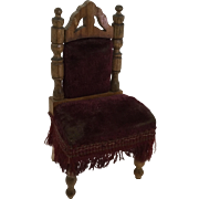 German Antique Large Scale Dollhouse Chair Schneegas