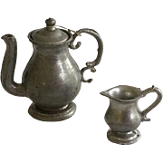 Antique Dollhouse  German Pewter Accessories