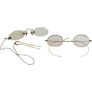 Two Pair antique spectacles eyeglasses