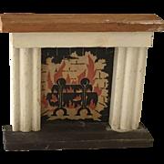Vintage Kage Dollhouse Fireplace ca. 1940