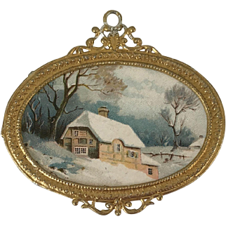 Beautiful Dollhouse Metal Wall Picture