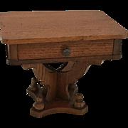 Beautiful German Dollhouse Sewing Table ca. 1900