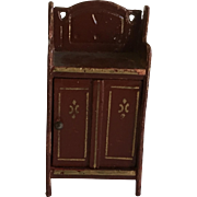 Antique Small Scale Gottschalk Dollhouse cabinet ca. 1920's