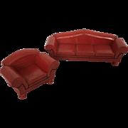 Schoenhut  Dollhouse Sofa and Chair ca. 1933