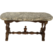 Fabulous Antique Schneegas Marble top Table 19th Century