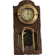 Antique German Metal Dollhouse Clock