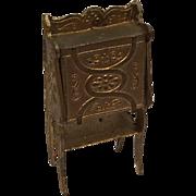 Sweet Antique Dollhouse Metal Desk