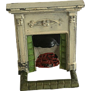 Dollhouse Antique English Fireplace ca.1920-1930