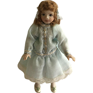 Delightful Artist Dollhouse Doll