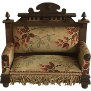 Antique German Dollhouse Settee