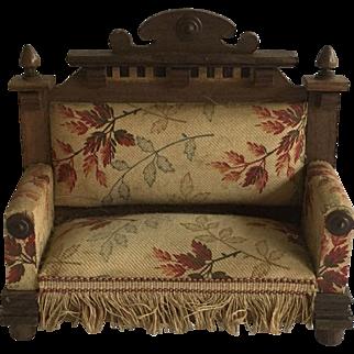 Antique German Dollhouse Settee