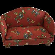 Vintage Dollhouse 1940's Kage Sofa