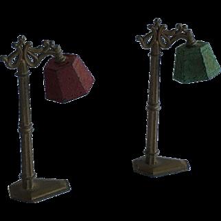 Antique  Dollhouse Tootsie Toy Floor Lamps