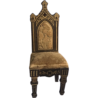 Lovely Antique Biedermeir Boulle Gothic Chair