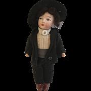 """German 5"""" Bisque Boy Doll"""