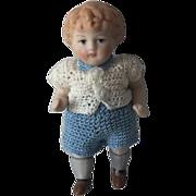 Cute All Bisque chubby Boy Doll