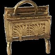 Fabulous Antique Ormolu Dollhouse  Letter Holder 19th Century