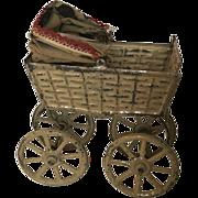 Early German Dollhouse Or Doll Buggy