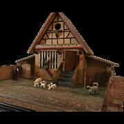 Wonderful German Barn with Animals ca. 1920s