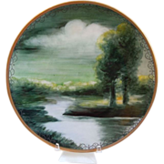 Antique  Limoges ~ Hand Painted Porcelain ~ Delinieres & Co.~  Landscape Scene~Signed