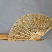 """19th Century~ Silk  Fan~ Advertising """"The White House"""" ~ Weill & Co. ~ San Francisco - Red Tag Sale Item"""