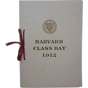"Antique "" Harvard Class Day"" 1912 Book, Commencement  June 18, 1912"